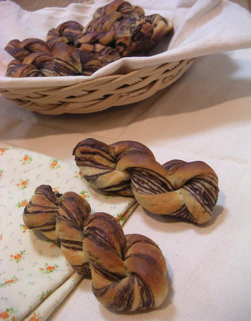 チョコレートのツイストパン
