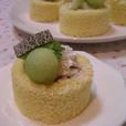 メロンのロールケーキ