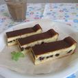 バナナ&チョコのチーズケーキ