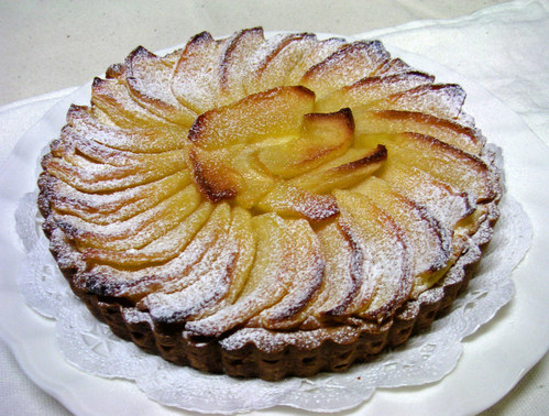 りんごのカスタードチーズタルト