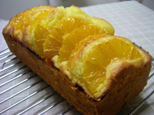 オレンジたっぷりのパウンドケーキ